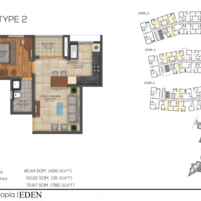 brigade-utopia-1-bhk-floor-plan